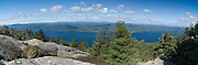 Lake George, Adirondacks, NY.  The summit looks westward across the Lake to Bolton Landing and beyond into the Central Adirondacks.