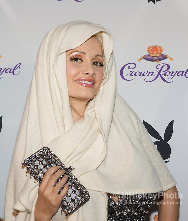 Holly Madison seen at the Playboy Crown Royal Purple Carpet Party. Photo by Michael Hickey