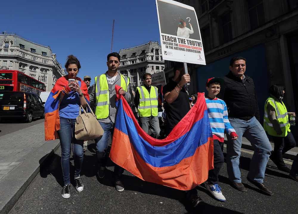 98th Anniversary of the Armenian Genocide march through London