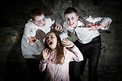Repro Free: 01/09/2014<br /> Gary Farrelly (13), Castleknock, Katie Sheehan (12), Tyrrelstown and Louis Maxwell (15) from Drumcondra pictured rehearsing their movie parts  pictured as the National Performing Arts School (NPAS) announced 20 scholarships (totaling &euro;10,000) at the launch of their Autumn/Winter schedule of classes covering all theatrical arts from musical theatre, to dance, drama and song writing. NPAS will be hosting an open day on Saturday 20th September and all are welcome to try out classes for free. For booking and/or the full schedule or to enter for a scholarship go to www.npas.ie or phone by calling 01 8944660. Picture Andres PovedaPoveda