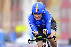 September 18, 2017 - Bergen, Norvege - BERGEN, NORWAY - SEPTEMBER 18 : Letizia Paternoster (Ita) in action during the Individual Time Trial Women Junior on day 2 of the 2017 World Road Championship cycling race on September 18, 2017 in Bergen, Norway, 18/09/2017 (Credit Image: © Panoramic via ZUMA Press)