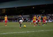 16th December 2017, Dens Park, Dundee, Scotland; Scottish Premier League football, Dundee versus Partick Thistle; Dundee's Sofien Moussa scores a penalty for 3-0