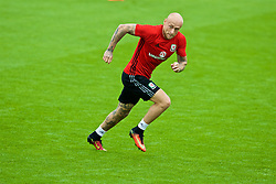 CARDIFF, WALES - Friday, September 2, 2016: Wales' David Cotterill during a training session at the Vale Resort ahead of the 2018 FIFA World Cup Qualifying Group D match against Moldova. (Pic by David Rawcliffe/Propaganda)