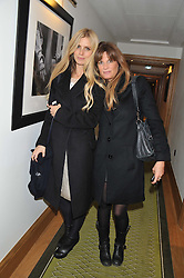 Left to right, LAURA BAILEY and JEMIMA KHAN at The Great Initiative event in association with jewellers Boodles held at The Corinthia Hotel, London on 6th November 2012.