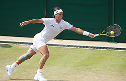 LONDON, ENGLAND - Friday, June 25, 2010: Feliciano Lopez (ESP) during the Gentlemen's Singles 3rd Round on day five of the Wimbledon Lawn Tennis Championships at the All England Lawn Tennis and Croquet Club. (Pic by David Rawcliffe/Propaganda)