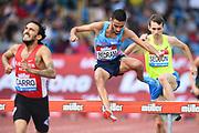 Djilali Bedrani (FRA) places ninth in the steeplechase in  8:33.33 during the Grand Prix Birmingham in an IAAF Diamond League meet in Birmingham, United Kingdom, Saturday, Aug. 18, 2018. (Jiro Mochizuki/mage of Sport)