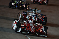Scott Dixon, Marco Andretti, Tony Kanaan, Iowa Corn Indy 250, Iowa Speedway, Newton, Iowa 06/23/12