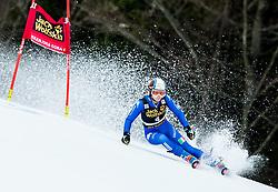 "Manuela Moelgg (ITA) competes during 1st Run of the FIS Alpine Ski World Cup 2017/18 5th Ladies' Giant Slalom race named ""Golden Fox 2018"", on January 6, 2018 in Podkoren, Kranjska Gora, Slovenia. Photo by Ziga Zupan / Sportida"