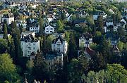 Deutschland Germany Hessen.Hessen, Wiesbaden.Blick vom Neroberg auf Villen., view from Nero Hill on villas...