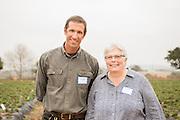 Steve Pederson of High Ground Organics and Carol Shennan of UC Santa Cruz