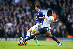 Victor Wanyama of Tottenham Hotspur tackles Ross Barkley of Everton - Mandatory by-line: Jason Brown/JMP - 05/03/2017 - FOOTBALL - White Hart Lane - London, England - Tottenham Hotspur v Everton - Premier League
