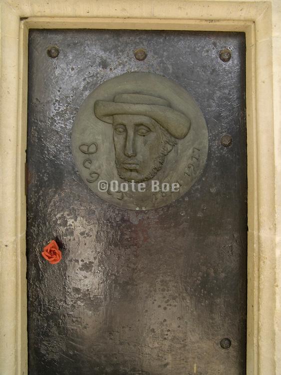 door of the painter Edward Degas (1834-1917) tomb in Cimetiere Montmartre Paris