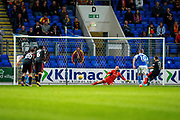 Partick Thistle midfielder Steven Lawless (#11) scores Partick Thistle's first goal (0-1) from the penalty spot during the Betfred Scottish Cup match between St Johnstone and Partick Thistle at McDiarmid Stadium, Perth, Scotland on 8 August 2017. Photo by Craig Doyle.