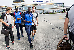 August 2, 2017 - Oostende, BELGIUM - Gent's Kalifa Coulibaly and Gent's Anderson Esiti pictured during the departure of Belgian first division soccer team KAA Gent ahead of the return leg of the third qualifying round for the UEFA Europa League competition, Wednesday 02 August 2017 in Oostende airport. KAA Gent plays against Austrian team Rheindorf Altach on Thursday after a draw result 1-1. BELGA PHOTO JASPER JACOBS (Credit Image: © Jasper Jacobs/Belga via ZUMA Press)