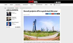 AMEinfo magazine , UAE; skyline of Kuwait City