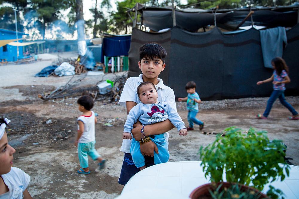 Brothers. Ritsona Refugee Camp, Greece, July 2016.