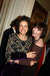 Left to right, the MARCHIONESS OF WORCESTER and CAROL VICTOR at a party to celebrate the publication of Andrew Robert's new book 'Waterloo: Napoleon's Last Gamble' and the launch of the paperback version of Leonie Fried's book 'Catherine de Medici' held at the English-Speaking Union, Dartmouth House, 37 Charles Street, London W1 on 8th February 2005.<br /><br />NON EXCLUSIVE - WORLD RIGHTS