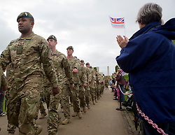 © Licensed to London News Pictures. 30/06/2012, National Memorial Arboretum, Staffordshire. Members of the Armed Forces and the general public celebrated Armed Forces Day as they watched the Olympic Torch Relay and a parade from members of 2 Mercian Regiment.  Photo credit : Alison Baskerville/LNP