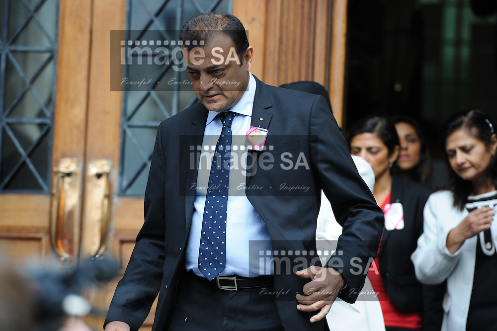 CAPE TOWN, SOUTH AFRICA - Wednesday 8 October 2014, Ashok Hindocha, uncle of deceased Anni Dewani) leaves court after the day's proceedings during Day 2 of the Shrien Dewani trial at the Cape High Court before Judge Jeanette Traverso. Dewani is caused of hiring hit men to murder his wife, Anni. Anni Ninna Dewani (n&eacute;e Hindocha; 12 March 1982 &ndash; 13 November 2010) was a Swedish woman who, while on her honeymoon in South Africa, was kidnapped and then murdered in Gugulethu township near Cape Town on 13 November 2010 (wikipedia).<br /> Photo by Roger Sedres