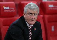 Mark Hughes manager of Stoke City on the touchline prior to the Barclays Premier League match against Chelsea at the Britannia Stadium, Stoke-on-Trent.<br /> Picture by Michael Sedgwick/Focus Images Ltd +44 7900 363072<br /> 07/11/2015