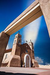 San Miguel de Socorro Catholic Church. Socorro, New Mexico, USA.