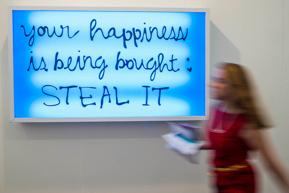 Your Hapiness by Sam Durant, Coles Gallery - Frieze London and Frieze Masters 2014, Regents Park, London, 14 Oct 2014.
