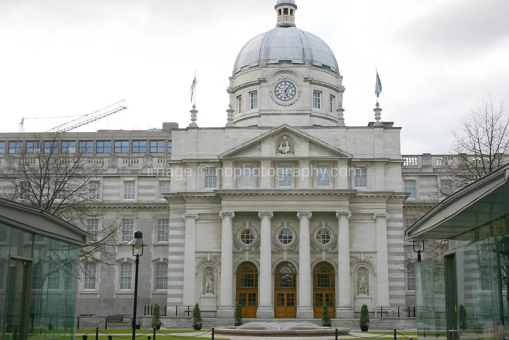 Irish government buildings, Leinster House, Dublin, Ireland