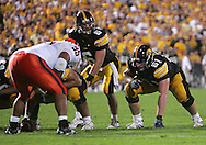 08 SEPTEMBER 2007: Iowa guard Travis Meade (61) in Iowa's 35-0 win over Syracuse at Kinnick Stadium in Iowa City, Iowa on September 8, 2007.
