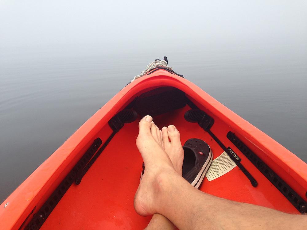 Into the Fog Via Kayak off Dyce's Head, Castine, Maine US