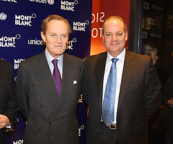 """Centre & right, The MARQUESS OF DOURO and KEVIN BOLTMAN MD of MontBlanc at a party to celebrate the opening of the new Mont Blanc store at 151 Sloane Street, London on 9th March 2005.  The evening was held in conjunction with UNICEF's """"Sign up for the right to write"""" campaign which is raising money though the sale of celebraties 'statements' currently for auction on the ebay website.<br /><br />NON EXCLUSIVE - WORLD RIGHTS"""