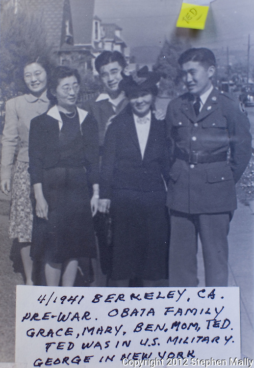 A photo of Grace Amemiya's family from 1941. The picture was taken in Berkley, California...This picture was shot at Collegiate Presbyterian Church, 159 Sheldon Ave, in Ames, Iowa on Thursday, March 29, 2012. (Stephen Mally/Freelance)