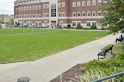 View Northeast, Sidewalk & Quad. CCSU New Academic Building Construction Progress. Pre-Construction, Shoot 1