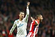 Real Madrid's Portuguese forward Cristiano Ronaldo gestures during the Spanish championship Liga football match between Atletico Madrid and Real Madrid on November 18, 2017 at the Wanda Metropolitano in Madrid, Spain - Photo Benjamin Cremel / ProSportsImages / DPPI
