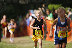 Addyson competes in her first Cross Country meet, Saturday, Sept. 12, 2015 at Creasy Mahan Nature Preserve in Goshen.