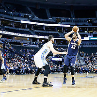 01 February 2016: Denver Nuggets center Jusuf Nurkic (23) defends on Memphis Grizzlies center Marc Gasol (33) during the Memphis Grizzlies 119-99 victory over the Denver Nuggets, at the Pepsi Center, Denver, Colorado, USA.