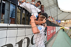 Luka Bobicanec of NS Mura with fans after football match between NK Maribor and NS Mura in 2nd Round of Prva liga Telekom Slovenije 2018/19, on July 29, 2018 in Ljudski vrt, Maribor, Slovenia. Photo by Mario Horvat / Sportida