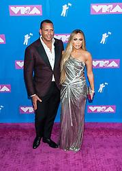 August 21, 2018 - New York City, New York, USA - 8/20/18.Alex Rodriguez and Jennifer Lopez at the 2018 MTV Video Music Awards at Radio City Music Hall in New York City. (Credit Image: © Starmax/Newscom via ZUMA Press)