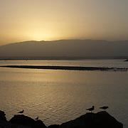 Oman, Sur. February/26/2008. ..Sunset at Sur.