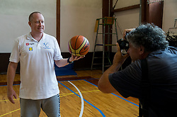 Nejc Visnikar, head coach of Slovenian Deaf Basketball team and photographer Goran Antley at media day, on June 13, 2016 in GIB Centre, Ljubljana, Slovenia. Photo by Vid Ponikvar / Sportida
