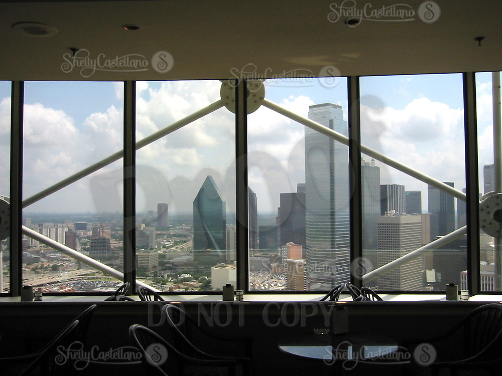 Jun 21, 2002; Dallas, TX, USA; View of the Dallas skyline from the first level of the rotating Reunion Tower landmark downtown.  Mandatory Credit: Photo by Shelly Castellano/ZUMA Press. (©) Copyright 2002 by Shelly Castellano
