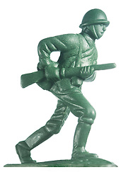 Plastic toy soldier