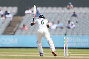 V Chopra bowled during the Specsavers County Champ Div 1 match between Lancashire County Cricket Club and Essex County Cricket Club at the Emirates, Old Trafford, Manchester, United Kingdom on 9 June 2018. Picture by George Franks.