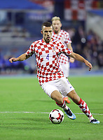 ZAGREB, CROATIA - NOVEMBER 09: Ivan Perisic of Croatia controls the ball during the FIFA 2018 World Cup Qualifier play-off first leg match between Croatia and Greece at Maksimir Stadium on November 9, 2017 in Zagreb, Croatia. (Luka Stanzl/PIXSELL)