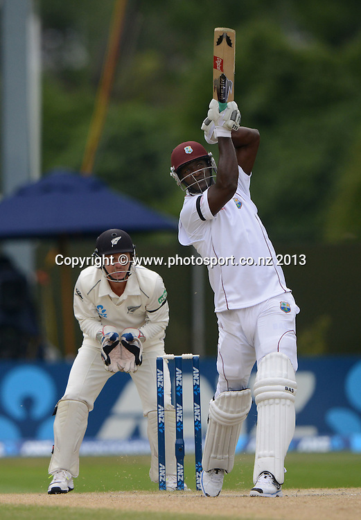 Darren Sammy on Day 5 of the 1st cricket test match of the ANZ Test Series. New Zealand Black Caps v West Indies at University Oval in Dunedin. Saturday 7 December 2013. Photo: Andrew Cornaga/www.Photosport.co.nz