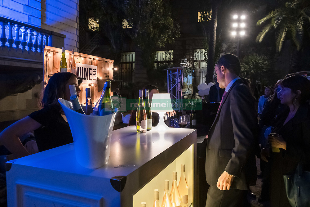 November 22, 2018 - Barcelona, Catalonia, Spain - The bar area is seen during the opening party of the Shopping Night Barcelona..Barcelona celebrates its 9th edition of Shopping Night Barcelona. The central commercial hub of Passeig de Gràcia is filled with fashion, music, culture and gastronomy. A party that aims to boost sales and inaugurates the commercial Christmas campaign. (Credit Image: © Paco Freire/SOPA Images via ZUMA Wire)