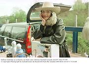 Saffron Aldridge at a Charity car-boot sale. Chelsea football Ground. 20/4/97. film 9715f9<br />© Copyright Photograph by Dafydd Jones<br />66 Stockwell Park Rd. London SW9 0DA<br />Tel 0171 733 0108