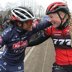 01-01-2020: Wielrennen: DVV veldrijden: Baal <br />Ceylin Del Carmen Alvarado en Annemarie Worst
