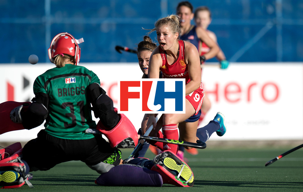 AUCKLAND - Sentinel Hockey World League final women<br /> Match id: 10304<br /> 15 USA v ENG (QF)<br /> Foto: Sophie Bray scores 0-2.<br /> WORLDSPORTPICS COPYRIGHT FRANK UIJLENBROEK