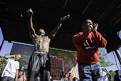 June 3, 2017 - Plainfield, NEW JERSEY, U.S - TREACH AND VIN ROCK OF NAUGHTY BY NATURE appears during the annual Union County Rhythm and Blues by the Brook at Cedar Brook Park In Plainfield, New Jersey. (Credit Image: © Brian Branch Price via ZUMA Wire)