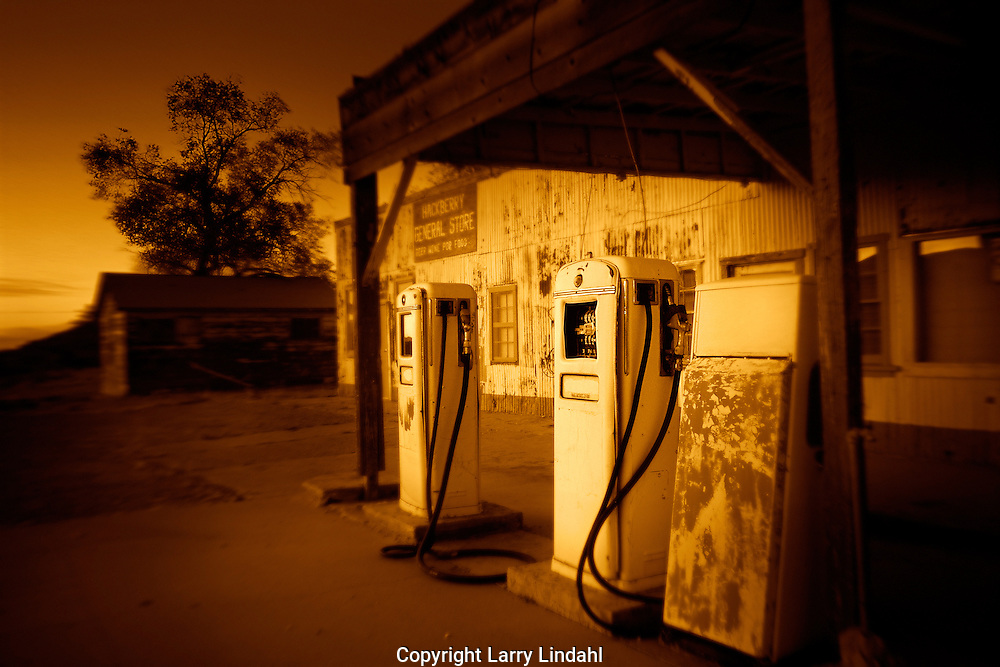 Hackberry General Store, Route 66, Hackberry, Arizona, gas pumps, nostalgic, Americana, sepia, roadside,